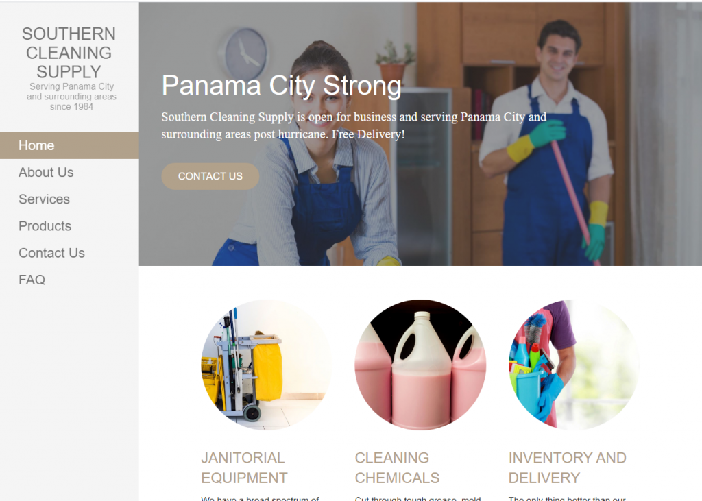 Janitorial Supply Company Website Development