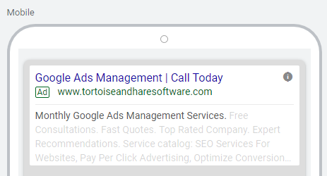 desktop preview of incomplete expanded text ad