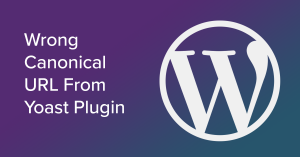 wrong canonical url from yoast plugin on wordpress