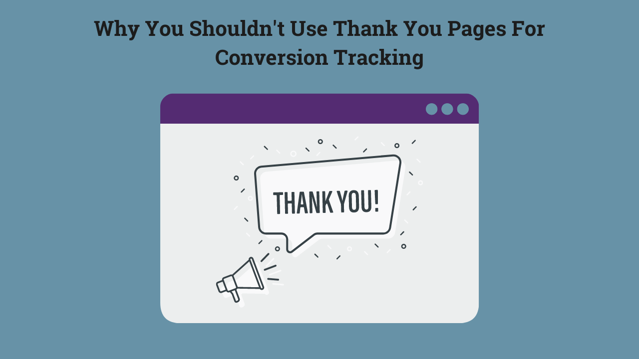 thank you page conversion tracking