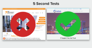 5 second test for ppc landing pages