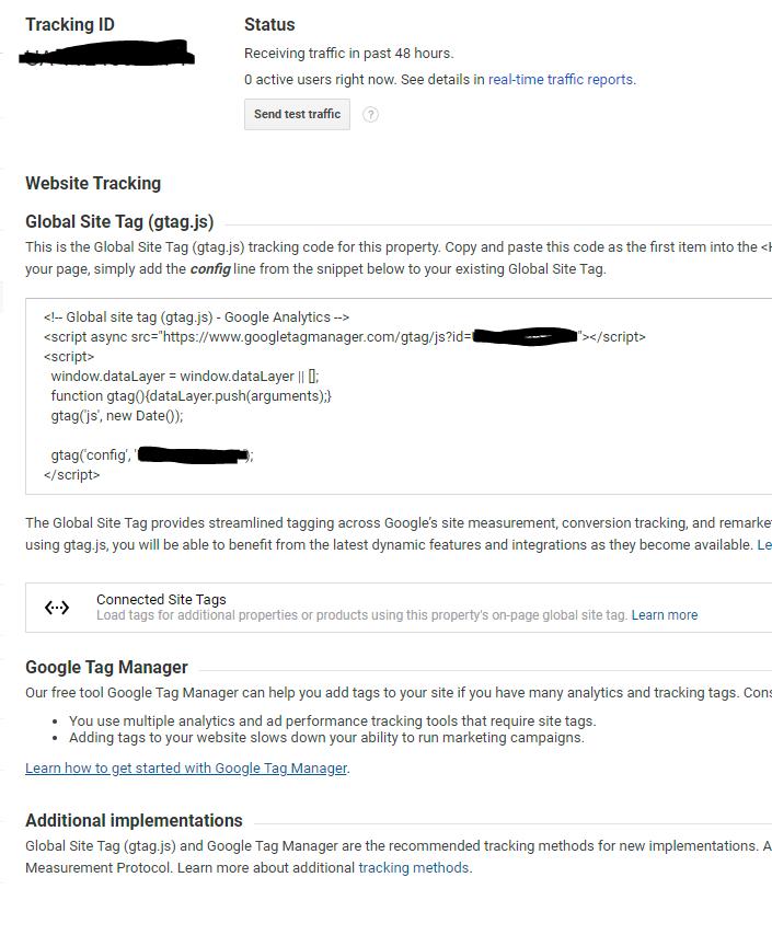 google analytics installation snippet