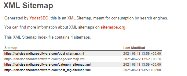 yoast xml sitemaps