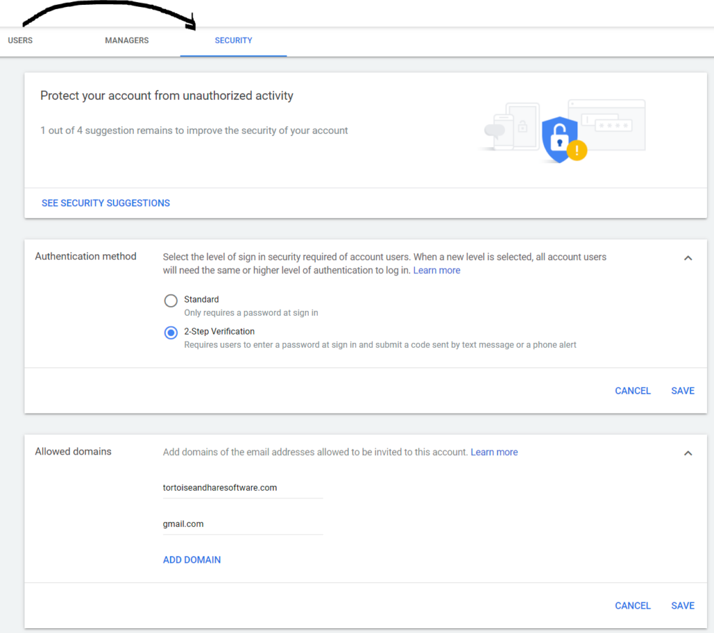 enabling multi factor authentication in google ads