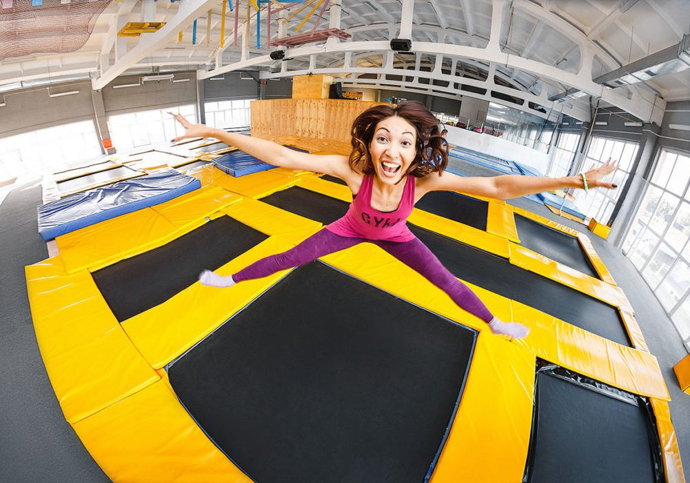 woman jumping on trampoline illustrates bounce rate