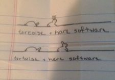 tortoise and hare software origins story sketch